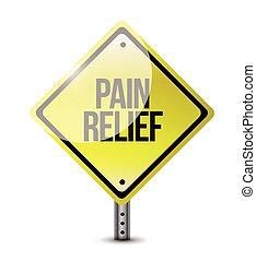 pain relief road sign illustration
