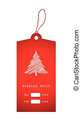christmas price sticker