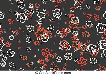 Seamless vintage pattern Eps 10 seamless pattern of flowers...