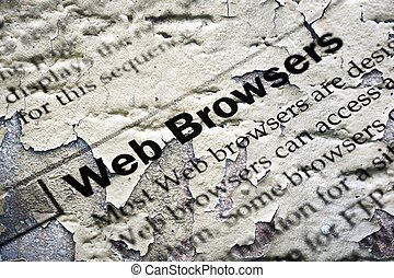 Web browsers grunge concept
