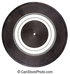 Vintage rubber turntable platter mat with strobe pattern in...