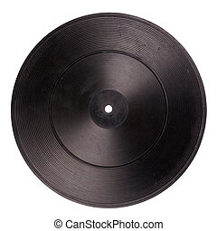 Vintage rubber turntable platter mat isolated on white...