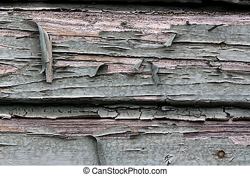 flaked color - old, flaked paint a wooden box. weather