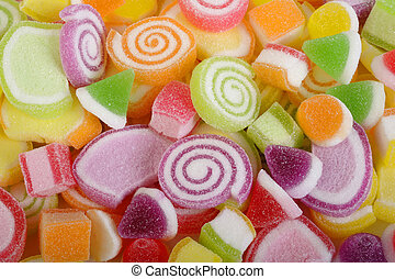 Sweet candy on white background