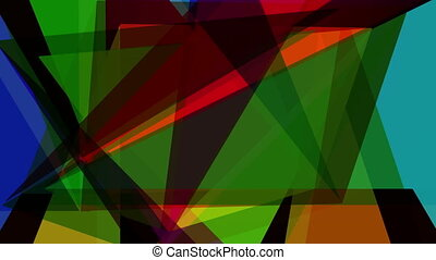 Abstraction pattern of geometric shapes Colorful-mosaic...