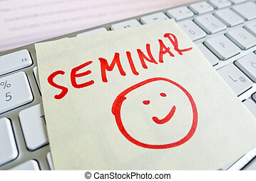note on computer keyboard seminar - a memo is on the...
