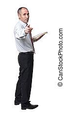 senior businessman isolated on white background