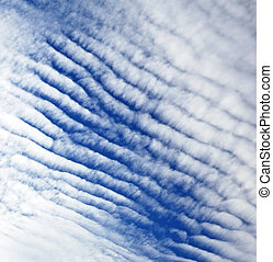Clouds on sky  - Clouds on the blue sky