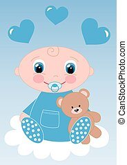 newborn baby boy or baby shower