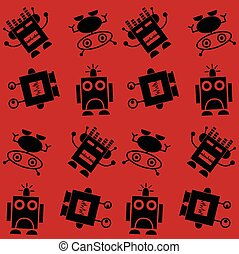 seamless robot pattern background