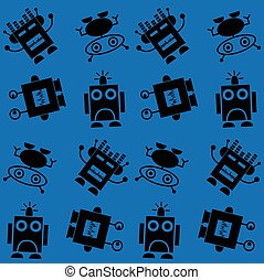 seamless robot pattern background