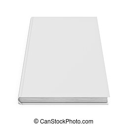 White blank book on white background - Three-dimensional...