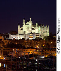 Best view of Palma de Mallorca with the Cathedral Santa...