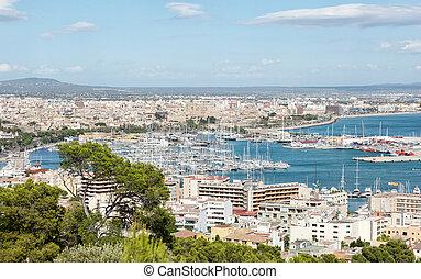 Palma de Mallorca city panorama