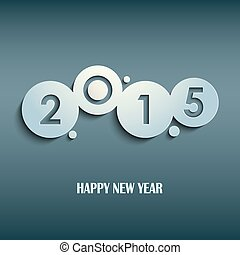 Abstract blue New Years wishes rounds template vector eps 10
