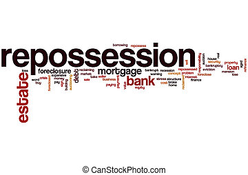 Repossession word cloud concept