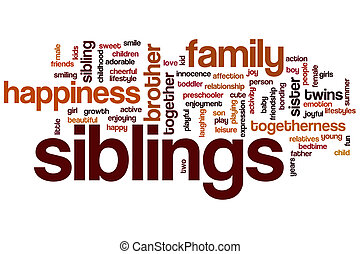 Siblings word cloud concept