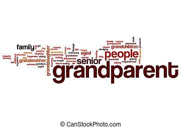 Grandparent word cloud concept