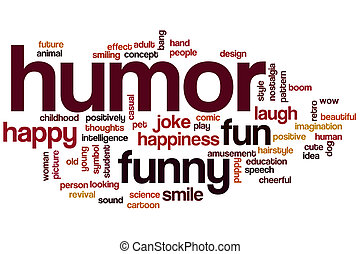 Humor word cloud concept