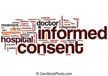 Informed consent word cloud concept