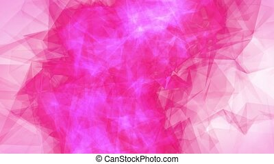 Abstract pink romantic background with heart and lights...