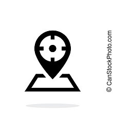 Optical sight icon on white background Vector illustration