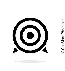 Target icon on white background. Vector illustration.