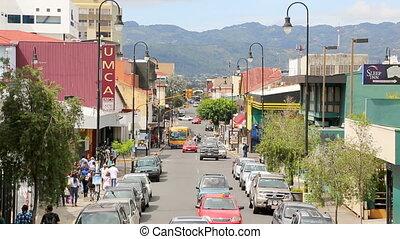Street in San Jose - SAN JOSE, COSTA RICA - MAY 17:...