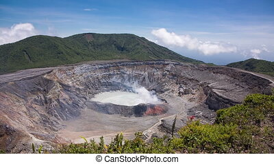 Crater of Poas Volcano, Costa Rica - Main crater with lake...