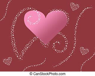pink heart valentine sparkle design
