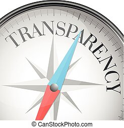 compass transparency - detailed illustration of a compass...