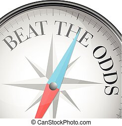 compass beat the odds - detailed illustration of a compass...