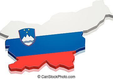 Map Slovenia - detailed illustration of a map of Slovenia...