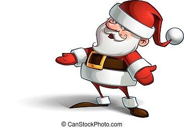 Smilling Santa - Cartoon vector illustration of a smiling...