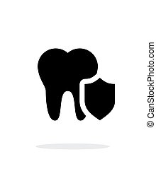 Protected tooth icon. - Protected tooth icon on white...