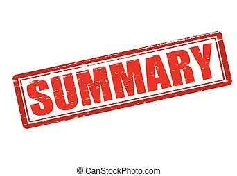 Summary - Rubber stamp with word summary inside, vector...