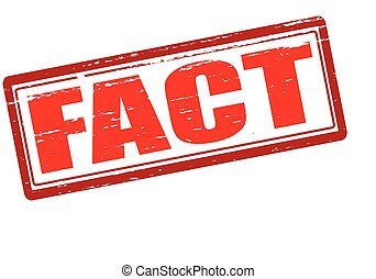 Fact - Rubber stamp with word fact inside, vector...