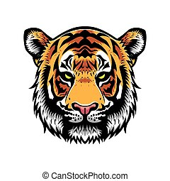 Tiger Head - tiger head vector graphic illustration with...