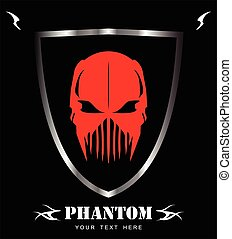 Red Phantom - Red Mask Alien Predator Artwork Suitable for...