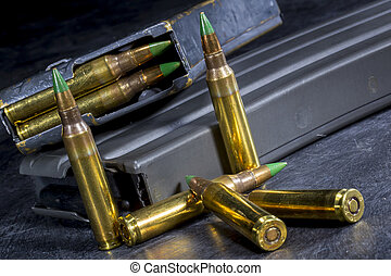 AR-15 Ammo - Ammunition for an American AR-15 assault rifle...