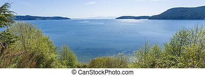 Puget Sound and the San Juan Island - Panorama Photo from...