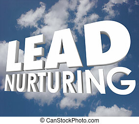 Lead Nurturing Cloud Sales Process 3d Words Prospects...