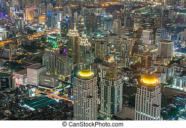 Night City LandScape of the Bangkok Thailand