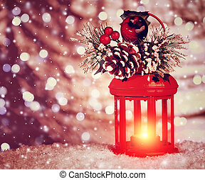 Beautiful Christmas lantern - Beautiful Christmas glowing...