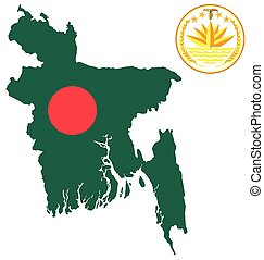 Bangladesh Flag - Flag and national emblem of the Peoples...