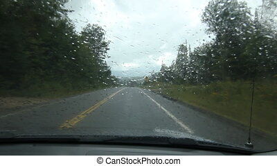 Rainy drive in Muskoka county. - Driving on a rainy day on...