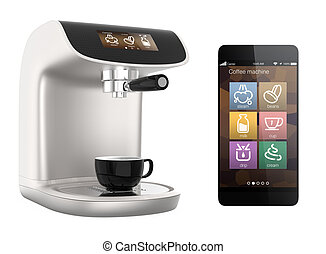 Smart phone apps for coffee machine