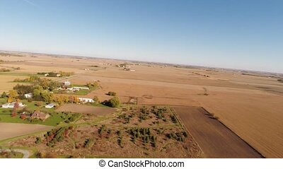 Aerial agriculture farm landscape - Agriculture aerial view...