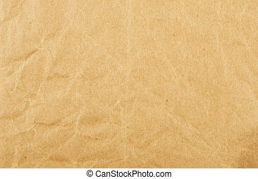 Creased brown paper - Old creased brown paper as a...