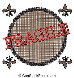 fragile - label stamp with text fragile on vector...